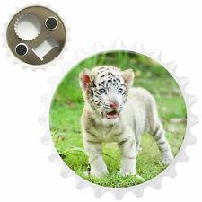 Baby White Tiger Bottle Opener Fridge Magnet