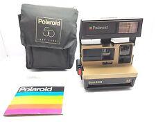 *Rare* 1987 Polaroid Sun 600 SE Gold 50th Anniversary Instant Film Camera