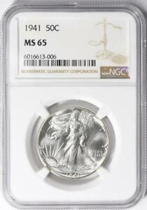 1941 Liberty Walking Liberty Half Dollar - NGC MS-65 - Mint State 65