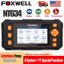 Foxwell NT634 Automotive Scanner Four System EPB Oil DPF Reset OBD2 Code Reader