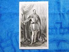 Gravure Année 1861 - Portrait de l'empereur+ Portrait de l'imperatrice du Brésil