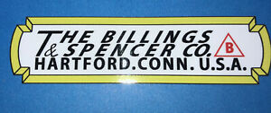 """Billings & Spencer Co. Hartford For Restoration 4 1/2"""" Decals set of 2"""