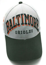 BALTIMORE ORIOLES gray / black fitted cap / hat - size S / M