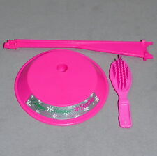 Barbie 1990s Stand Accessory Saddle CHRISTMAS Happy Holiday #5 Hot Pink