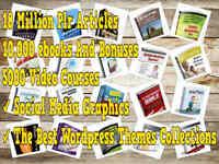 20 million plr articles 10k ebooks ,themes ,audio ,1000 videos, more bonus 150G