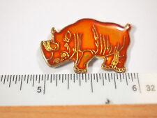 Rhinoceros Pin, Rhino Lapel Pin, Hat Tack,Vintage enamel pin