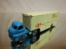 LESNEY MATCHBOX 2 BEDFORD + TRAILER WALL'S ICE CREAM - BLUE L10.0cm - GOOD