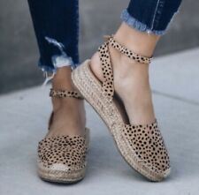 CHEETAH ESPADRILLES SIZE 7 by SODA $45 NEW
