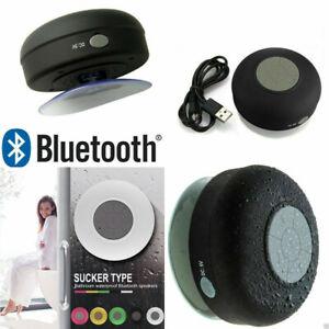 Lautsprecher Sound Box Bluetooth Saugnapf Wasserdicht für Dusche Bad Universal