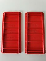 BAYKO 2 X ROOF PIECES no 30  RED VINTAGE model toy