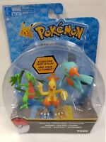 TOMY Pokemon Grovyle + Combusken + Marshtomp Set 3 Figures New Rare
