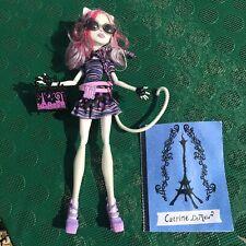 Monster High Catrine Demew Scaris jubilado/Raro púrpura-Bolsa, gafas de sol, diario