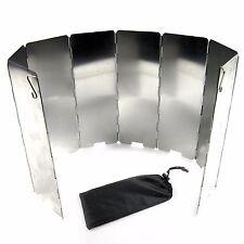 Aluminum Portable Folding Burner Wind Breaker Camping Stove Shelter Wind Guard