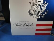 1993 W  BILL OF RIGHTS JAMES MADiSON SILVER COIN AND STAMP SET  BOOKLET