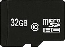 Carte Mémoire Microsdhc 32 Go Classe 10 pour Samsung Galaxy J3 2016 J5 2016 Duos