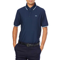 Under Armour UA HeatGear Mens Playoff Pique Academy Blue Loose Golf Polo Shirt L