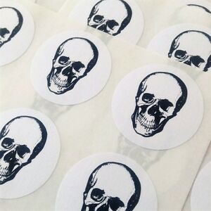 96 anatomical skull stickers. Gothic stickers. Spooky stickers. skulls #1017