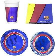 Official FC Barcelona 12 Piece Party Set - Plates, Napkins & Cups