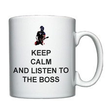 Keep Calm and Listen to The Boss, Bruce Springsteen, Personalised Mug