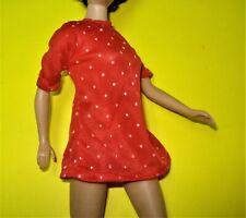 Vtg Barbie Superstar 80s Doll Clothes Red Tricot Polka Dot Blouse No Label
