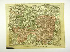 Austria Vienna Danube Europe altkol Copperplate Map Moores 1762 #d916s
