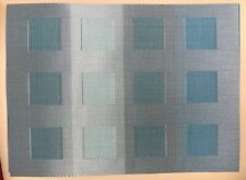 SET OF 8 TURQUOISE/AQUA RECTANGLE CHILEWICH PLACEMATS - PERFECT!!!