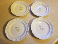"""Pfaltzgraff Garland Bread/Salad 7 3/4"""" Plates Set of 4"""
