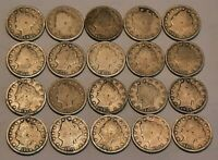 Half Roll Liberty V Nickels---20 Coins in All--Nice Selection of Dates