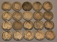 Half Roll Liberty V Nickels-20 Coins in All-Nice Selection of Dates
