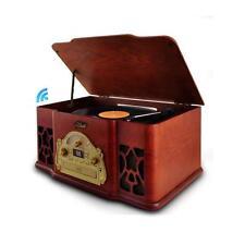 Pyle PTCD64UBT Bluetooth Vintage Style Turntable Vinyl-to-MP3 USB/FM Radio