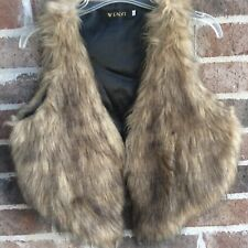 Wendi Faux Fur Cropped Vest Vegan Lined Womens Girls Festival