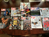 Lot of 9 TIME LIFE Magazine PHOTOS OF THE YEAR, Rock & Roll + TV Guide 1980-90's