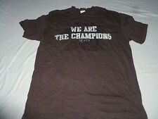 We Are The Champions Queen Band 2007 Concert Black Shirt Size L Brown Cotton >>