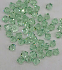 Swarovski Crystal Erinite Light Dusty Green Bicone Beads; Choose 4mm or 6mm