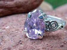 PINK TOPAZ CZ 925 SILVER RING SIZE Q 1/2 * US 8.5 HANDCRAFTED JEWELLERY