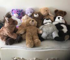 Lot Of 10 Build A Bear Workshop Bears Plush Animals Horse Polar Peace Bear