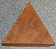 Handmade Hand Carved Wooden Jewelry Trinket Box ARTIST SIGNED Triangle Shape