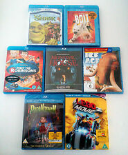 Blu-ray Animation Movies Lot Collection Shrek Lego 3D Ice Age Bolt Monster House