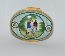 """Halcyon Days """"Riding for the Disabled """"-Oval Trinket Box- Limited Ed -250- Mib"""