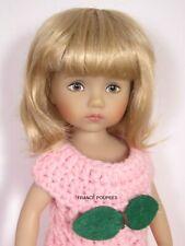 """perruque blonde poupée LD Boneka 10""""-T16/17cm-Doll wig sz6/7"""" blonde"""