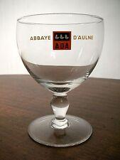 Bicchiere Calice Belgio BIRRA ABBAYE D'AULNE ADA 0,3 Beer Glass Verre Biere