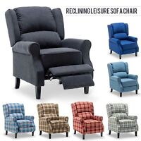Modern Fabric Accent Recliner Chair Single Sofa Upholstered ArmChair Living Room