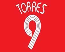 Torres #9 Liverpool 2007-2008 Home Champions League Football Nameset for shirt