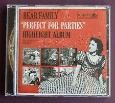 Bear Family Records ‎-  Various ‎– Perfect For Parties 2006 Cd Album