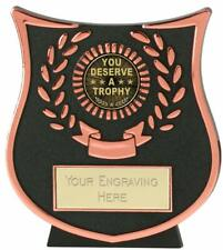 Emblems-Gifts Curve Bronze You Deserve A Trophy Award Trophy With Free Engraving
