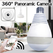 1080P Wifi Hidden IP Camera Light Bulb 360 Degree Night Vision Home Security Cam