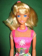B144-dulce rubio Flower Fun barbie # 16063 mattel 1996 muy buen estado