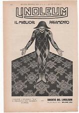 Pubblicità epoca LINOLEUM PAVIMENTO CASA HOME advert werbung publicitè reklame