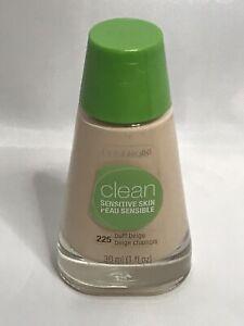 CoverGirl Clean Sensitive Skin Liquid Makeup, # 225 Buff Beige, 1 fl oz Bottle