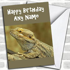 Bearded Dragon Lizard Birthday Customised Card